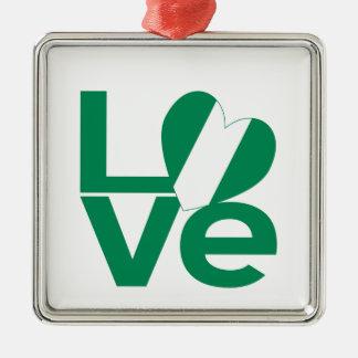 Nigerian LOVE Green Ornaments