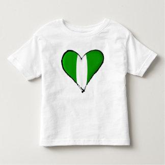 Nigerian love I heart Naija hearrt flag of Nigeria Toddler T-shirt
