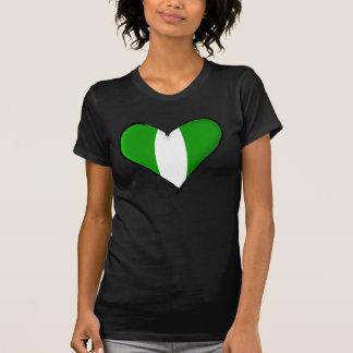 Nigerian love I heart Naija hearrt flag of Nigeria T-shirt