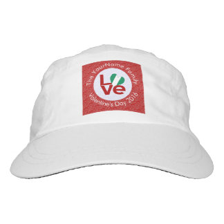 Nigerian LOVE White on Red Hat