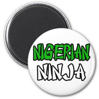 Nigerian Ninja Refrigerator Magnets