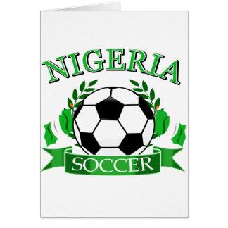 Nigerian soccer designs card