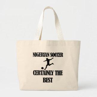 Nigerian  soccer designs large tote bag