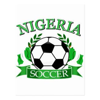 Nigerian soccer designs postcard