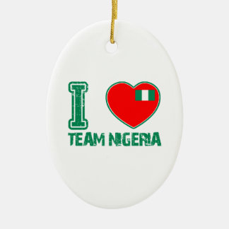 Nigerian sport designs Double-Sided oval ceramic christmas ornament