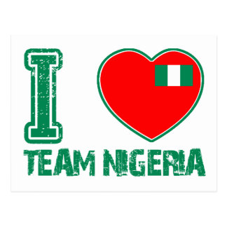 Nigerian sport designs postcard