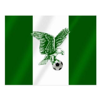 Nigerian Super Eagles flag of Nigeria Postcards