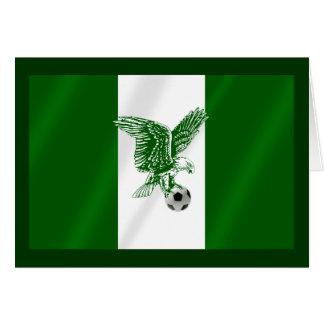 Nigerian Super Eagles soccer flag of Nigeria Card