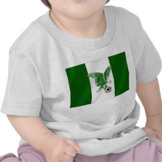 Nigerian Super Eagles soccer flag of Nigeria Tee Shirts