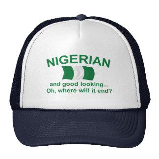 Nigeriano apuesto gorras de camionero