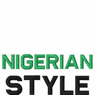 Nigeriano, juego de pista de encargo del estilo chaqueta