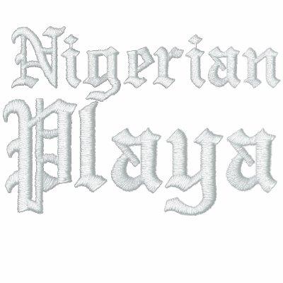 Nigeriano, juego de pista de Playa Chaqueta Bordada De Entrenamiento