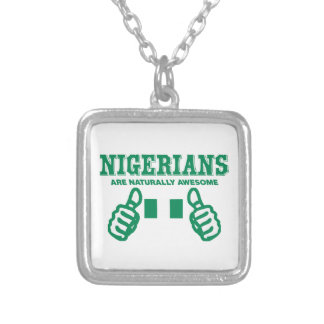 Nigerians are naturally awesome silver plated necklace