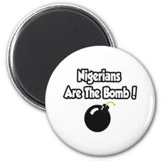 Nigerians Are The Bomb! Fridge Magnet