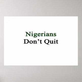 Nigerians no abandona póster
