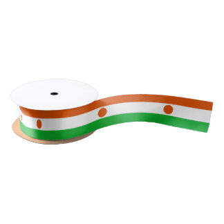 Nigerien flag ribbon satin ribbon