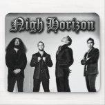 Nigh Horizon Band Photo (Black and White) Mousepad