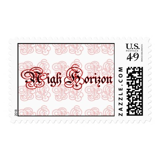 Nigh Horizon Bleeding Logo Postage Stamp