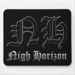 Nigh Horizon Old English Logo Mousepad