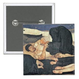 Night, 1890 (oil on canvas) 2 inch square button