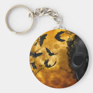 night-9951-scarry basic round button keychain