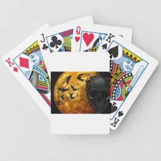 night-9951-scarry bicycle playing cards