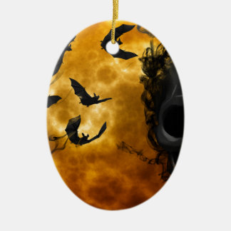 night-9951-scarry ceramic ornament