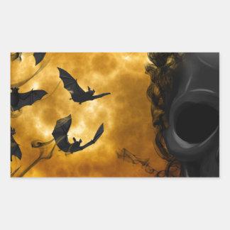 night-9951-scarry pegatina rectangular