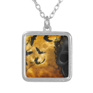 night-9951-scarry square pendant necklace