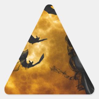night-9951-scarry triangle sticker