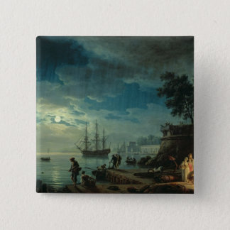 Night: A Port in the Moonlight, 1748 Button