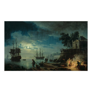 Night: A Port in the Moonlight, 1748 Posters
