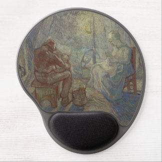 Night after Millet by Vincent Van Gogh Gel Mousepads