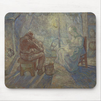 Night after Millet by Vincent Van Gogh Mouse Pads
