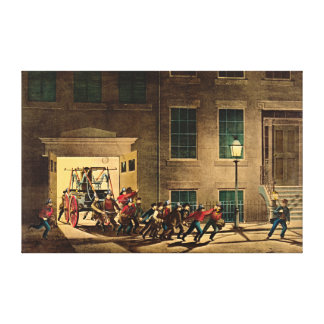 Night Alarm 1854 Canvas Print