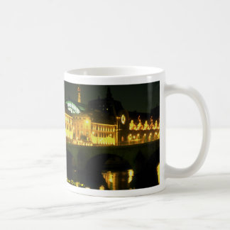 Night along the Seine River at Musee D Orsay Fran Coffee Mugs
