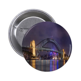 night and beauty Sydney Harbour Bridge Pin