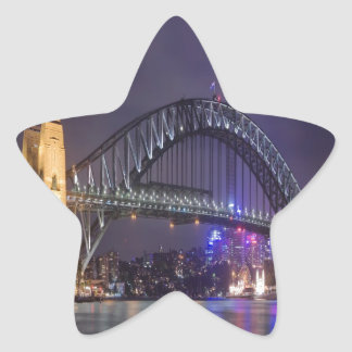night and beauty Sydney Harbour Bridge Star Sticker