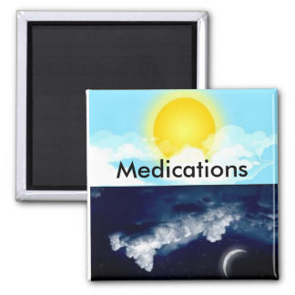 Night and Day Magnet for Medications