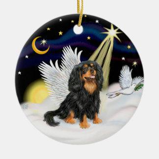 Cavalier King Charles Christmas Ornament Ceramic Night Angel