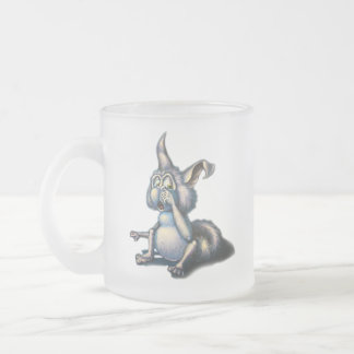 night animal frosted glass coffee mug