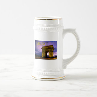 Night at Arc de Triomphe France Beer Stein
