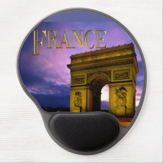 Night at Arc de Triomphe France Gel Mouse Pads