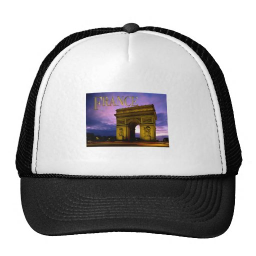 Night at Arc de Triomphe France Mesh Hats