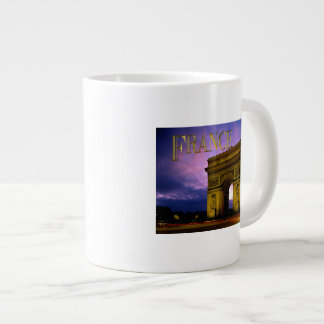 Night at Arc de Triomphe France Large Coffee Mug