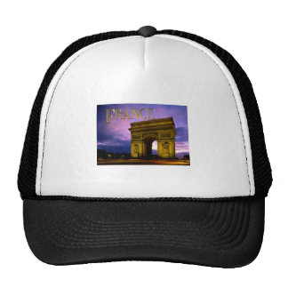 Night at Arc de Triomphe France Trucker Hat