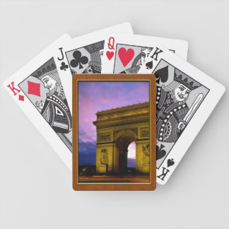 Night at  Arc de Triomphe Paris France Bicycle Playing Cards