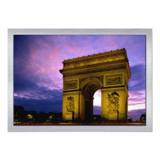 Night at  Arc de Triomphe Paris France Card