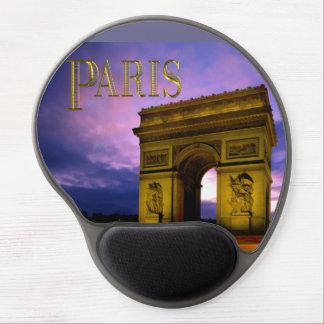 Night at Arc de Triomphe Paris Gel Mouse Pads