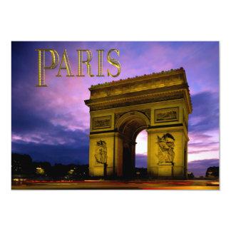 Night at Arc de Triomphe Paris Personalized Invitations